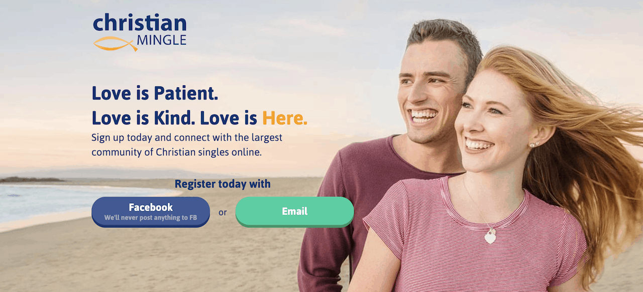 Christian Mingle Signup page
