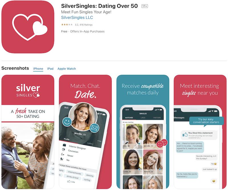 Silver Singles App Feature