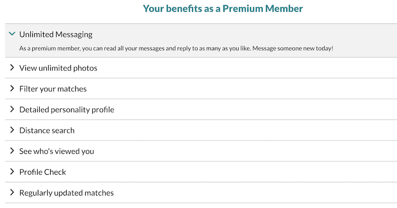 Premium membership benefits list
