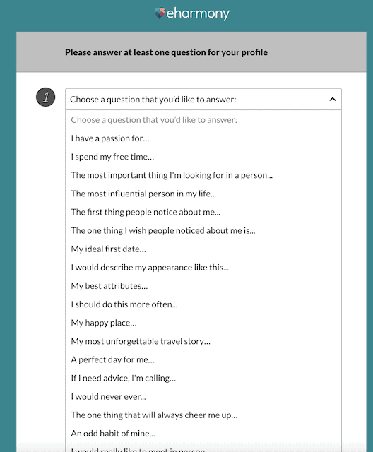 question and answer for your profile
